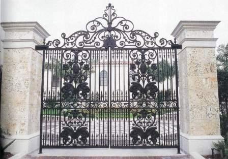 Custom Wrought Iron Gates : Exterior Residential Doors : Borano.com